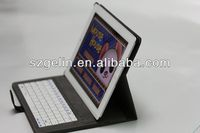2013 newest solor charger bluetooth keyboard case for ipad 2