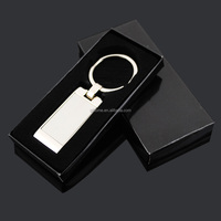 classic blank rectangle key ring with custom gift box