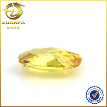 Hight quality factory direct supply golden yellow semi precious stone gems oval cz gems