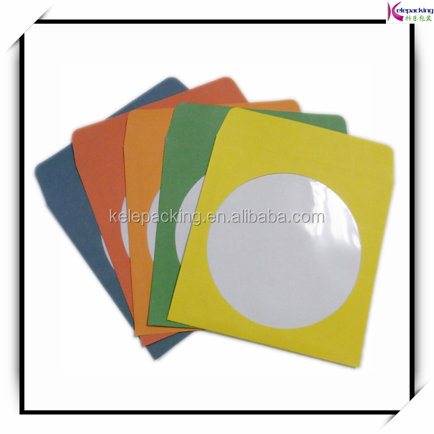 Cheap price custom colorful decorative cardboard CD window envelope