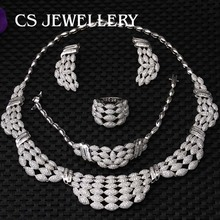 Wholesale Luxury Latest Noble Elegant Fashion Bridal Wedding Jewelry Sets E-7333