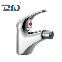 Single handle chrome deck mounted cheap design european bidet mixer faucet