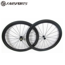 Competitive carbon wheels clincher 50mm rims with Powerway R13 hub, chinese bicycle wheels 23mm/25mm wide, aero U shape