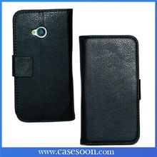 For HTC one m7 Flip Case,Lychee PU Wallet Leather Case for HTC one m7 With Stand,One m7 cover case