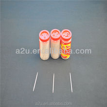 bamboo toothpick in plastic bottle/tube
