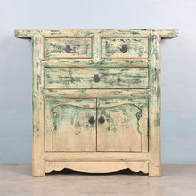 Chinese Antique Vintage Furniture Hand Painted Wooden Storage Cabinet