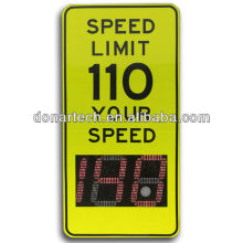 Outdoor Solar Powered Led Traffic Speed Limit Sign
