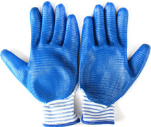 Light nitrile plam dipped knitted cotton gloves with factory price