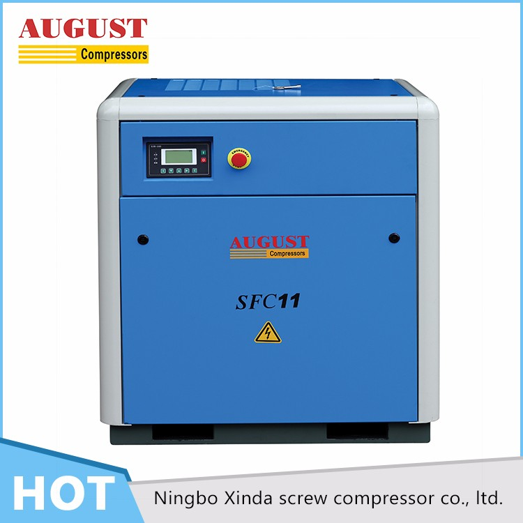 AUGUST 11KW/15 HP 10 bar stationary air cooled air compressor rotary screw air compressor