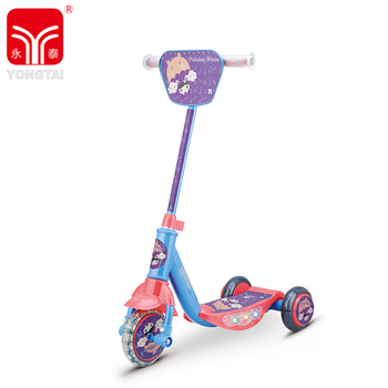 Popular 3 Wheels Kids Scooter With Flashing Light And Music, Cheap Price Tri-wheel Scooter