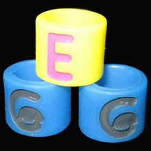 cheap sell engraved custom silicone thumb ring