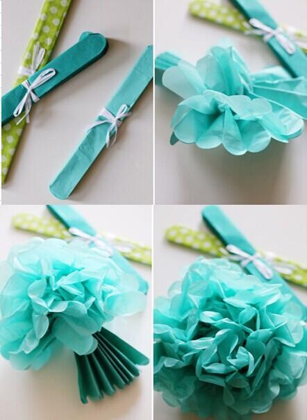 Yiwu Wholesale Wedding Party Hanging Black Mini Tissue Paper Pom