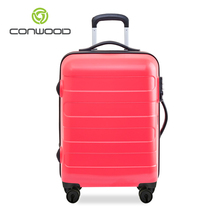 BSCI certification 100% Bayer PC chariot cool bagages valise ensemble