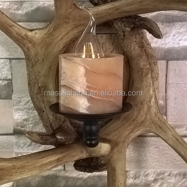 Vintage Branch Resin E14 wall lamp for Restroom Hotel Home Cafe Resturant hallway Rustic decorative glass wall lamp