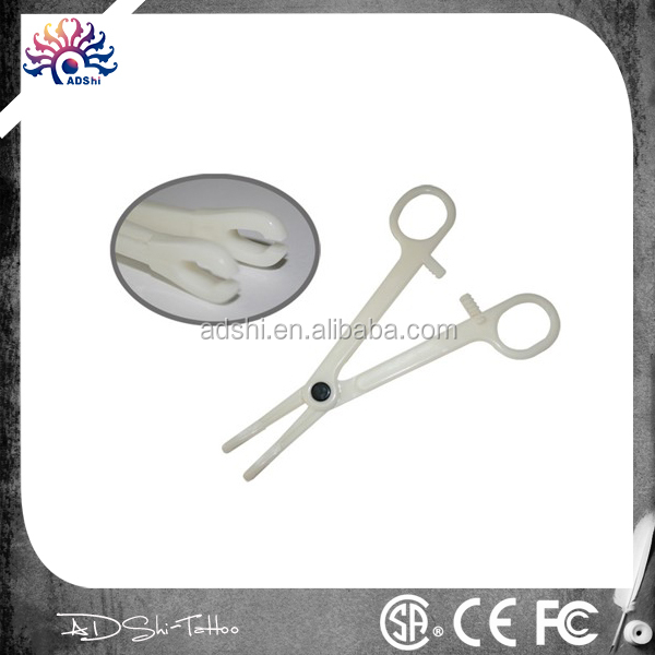 Tattoo body piercing tools Disposable Slotted Sponge Forceps