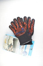 Heat resistant silicone kitchen bbq <strong>safety</strong> for cooking hand gloves