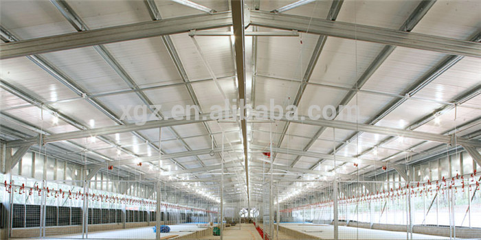 Automatic prefab commercial poultry housing