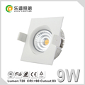 Square round Led ceiling light led housing downlight ip44 9w NEMKO