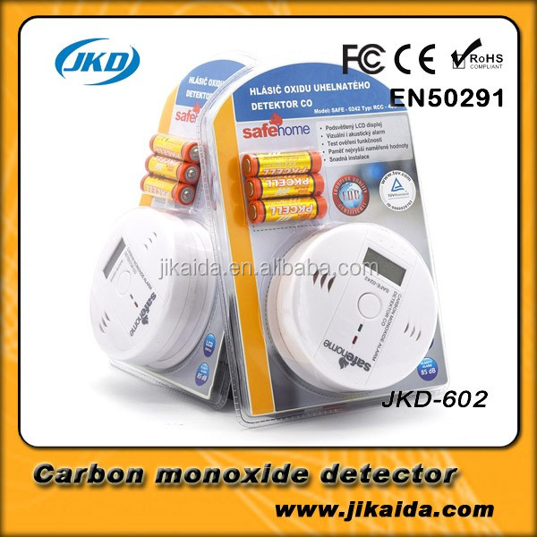 Wireless CO Carbon Monoxide Detector Alarm High Sensitive Gas detector Digital Backlight LCD Alarm Sensors Home Security