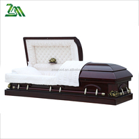 Funeral Supplies American Solid Wood Coffin