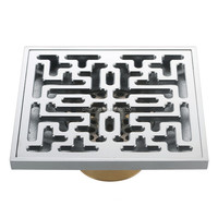 concealed tile insert concrete floor drain trap,bathroom shower brass floor drain cover