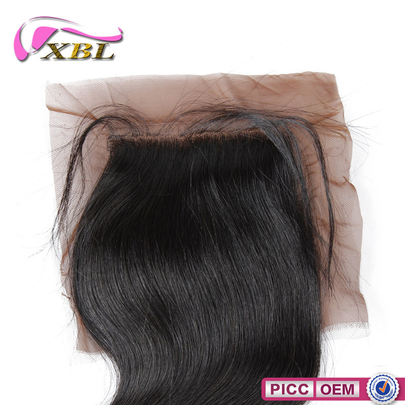 Gold Supplier XBL 4*4 Size Top Closure Remy Hair Silk Base Closure