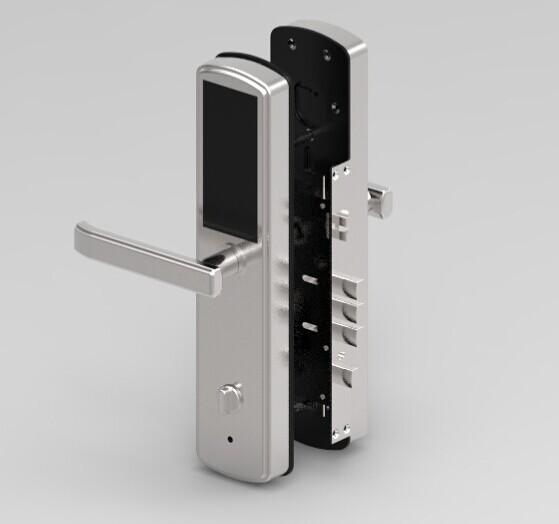 Keyless security digital touch screen smart fingerprint for 1 touch door lock