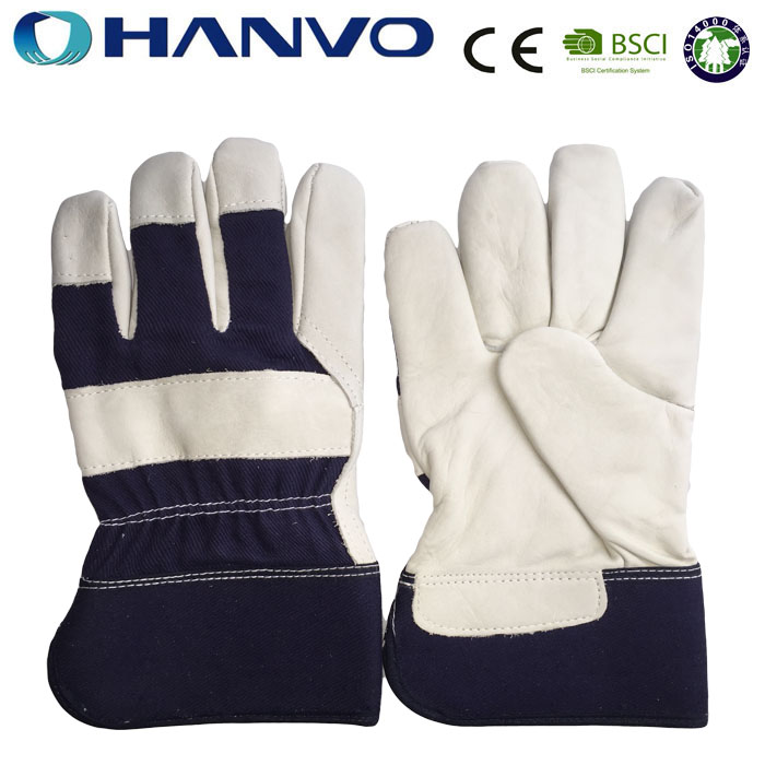 HANVO Wholesale Industrial Leather Hand Gloves