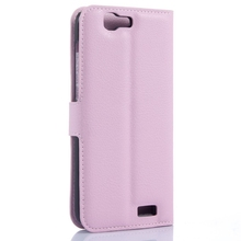 Top level hot sale leather wallet case for huawei ascend g7