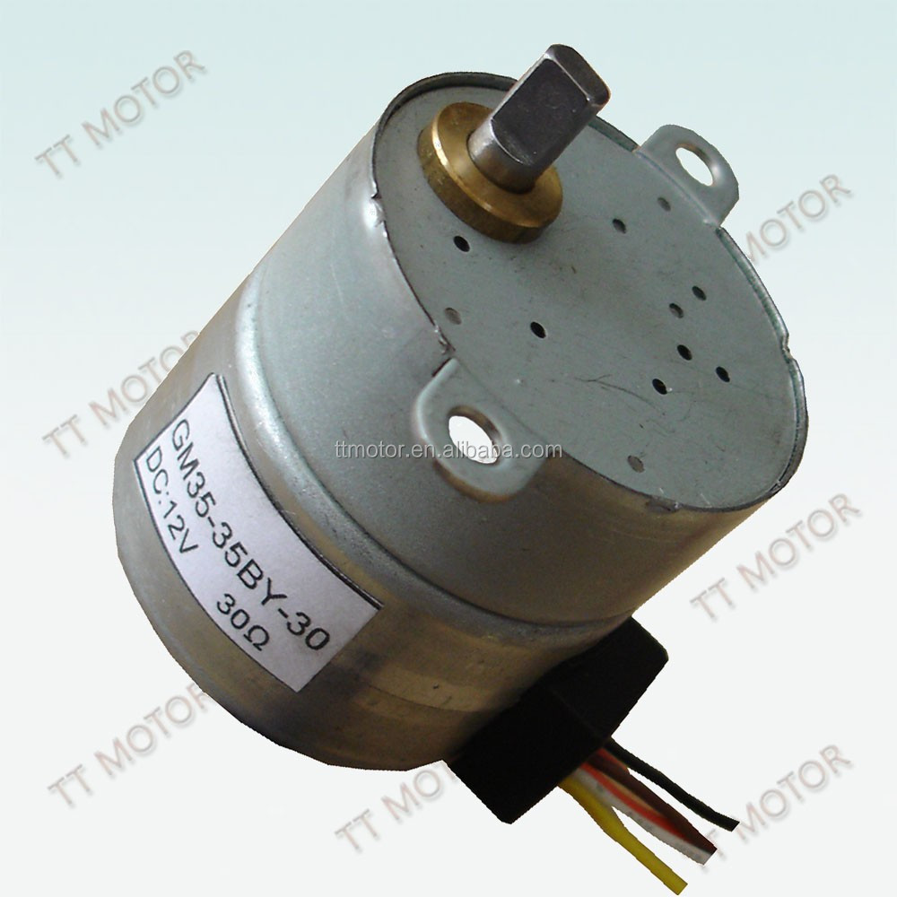 PM stepper geared motor 12v