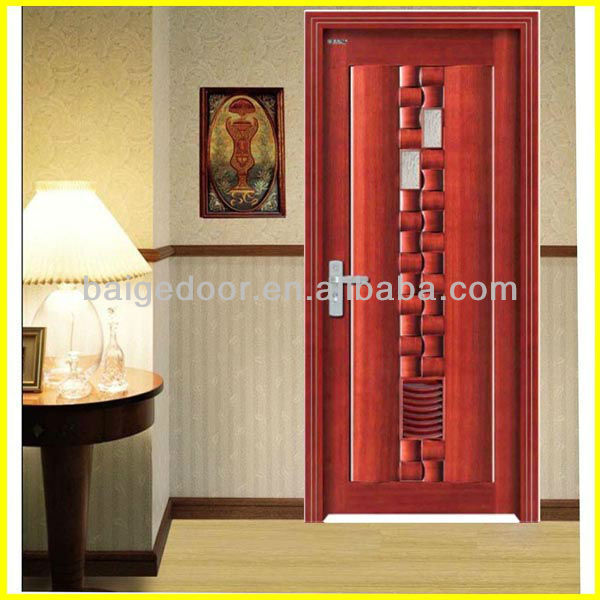 BG-W9006 Mahogany Carved Solid Wood Interior Door