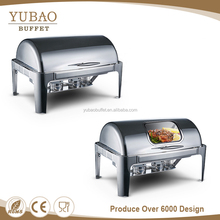 Yubao buffet equipment hot sale economy 201s/s Stainless steel hot pot chafing dish fuel