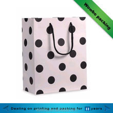 Nice black dot wrapped floral shopping /gift bags