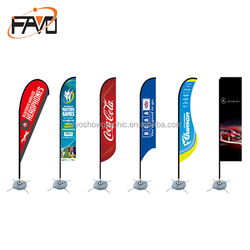 Telescopic Pole Teardrop or Feather Outdoor Flying Wind <strong>Resistant</strong> Promotion Printing Favoshow Advertising Banner Beach Flag