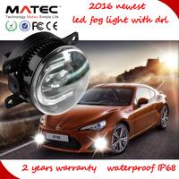 Innavative auto mazda 6 drl light newest auto led car fog light with drl CC CE ROHS EMARK 3.5 inch car led fog light with drl