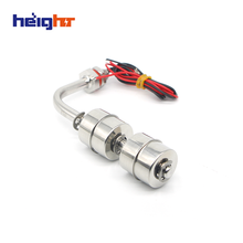 HEIGHT HT-611510-2S Wired Water Metal Magnetic Flow Switch Float Floater Level Sensor