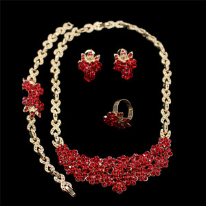 Elegant Desidn Nigerian Wedding African Beads Jewelry Sets Fashion Women Dubai Gold Color jewelry sets For Bridal