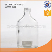 200ml high grade white glass liquor bottles portable vodka glass bottles.