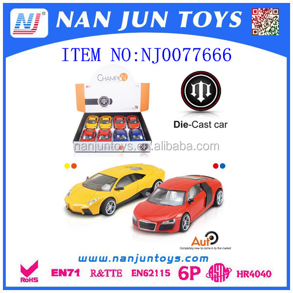 2016 hot sale 1:24 metal car model for wholesale