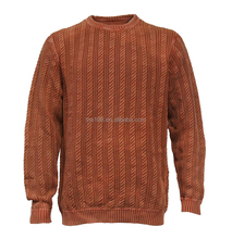 cable sweater for men's stone wash vintage style