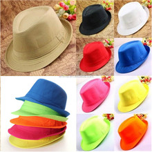 New Men Lady Jazz Neon Panama Fedora Trilby Cowboy Cap Sun Beach Hat Summer Brim New Arrival Party Hat HT2880