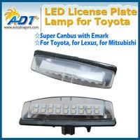 Xenon White E-Mark LED Number Plate Light for Toyota for Lexus for Mitsubishi License Plate Light Error Free