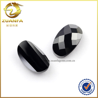 customized design for ring mouting oval shaped checker cut black cz
