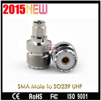 Joytone AC-11 SMA - Male to SO239 Golden Pin UHF Adaptor For Antenna