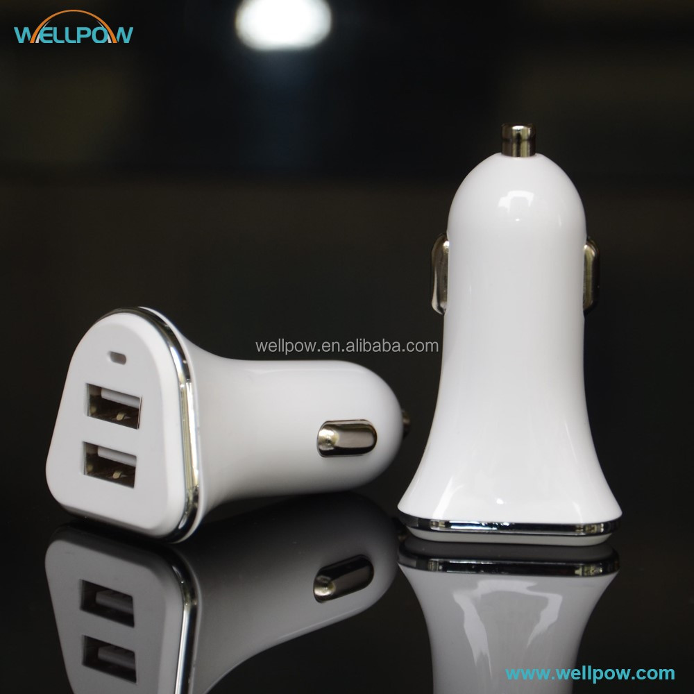 2016 new dual USB car charger 5v 3.4a for iphone and smatphone
