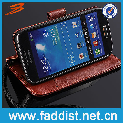 For Samsung Galaxy s4 mini Flip Case Stand Leather Case