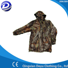 Hot sale polyester camouflage military rainsuit
