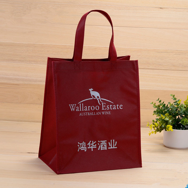 hot sell promotional shopping custom no woven bag with handle on aibaba.com