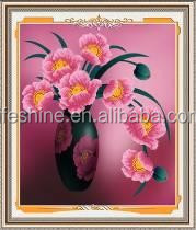 """Pink Corn poppy "" New 5D round crystal diy diamond painting"