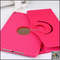 TPU + wove rotating leather smart case for IPAD AIR2